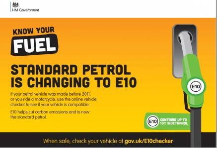 Standard Petrol is changing to E10 – Know Your Fuel